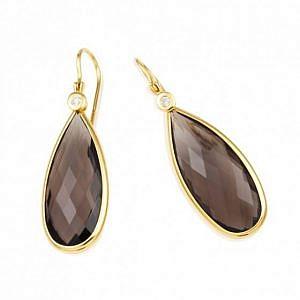 Smokey quartz drop earrings