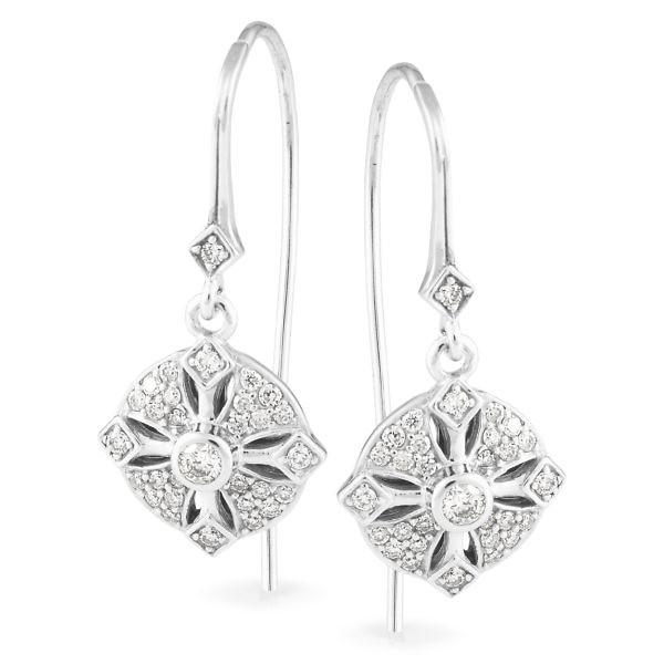 Andrew Mazzone diamond drop earrings