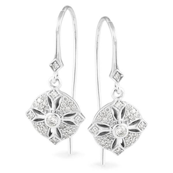 Andrew Mazzone diamond drop earrings