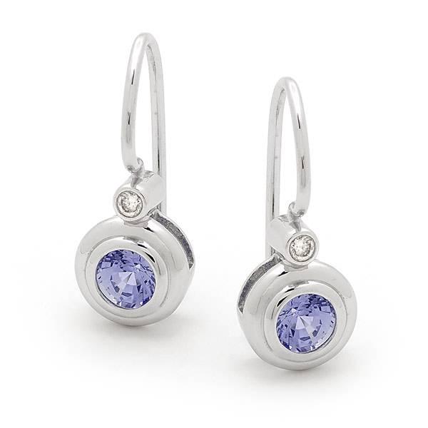 Ceylon sapphire & diamond earrings