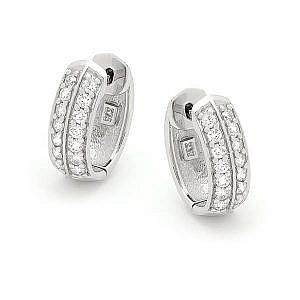 Andrew Mazzone Diamond double row hoop earrings