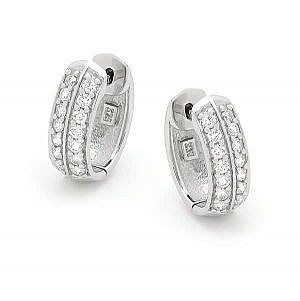 Andrew Mazzone Diamond double row hoop earrings