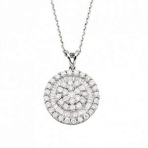 Andrew Mazzone Diamond halo pendant