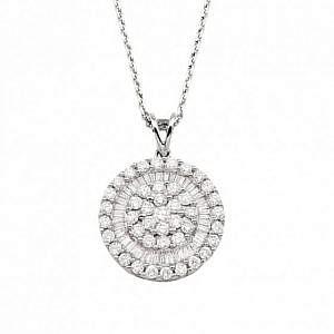 Andrew Mazzone Diamond halo pendant