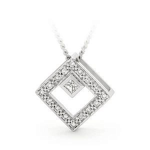 Brilliant cut diamond pendant