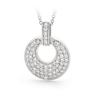 Brilliant cut diamond pendant