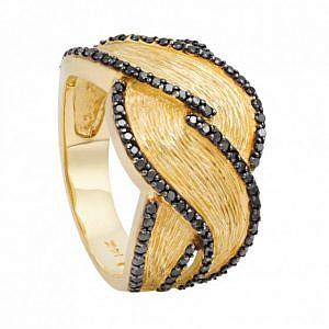 Black diamond dress ring
