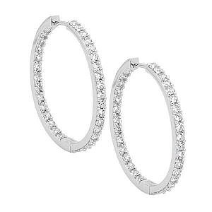 Ellani cubic zirconia hoop earrings