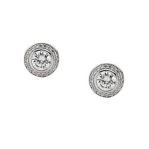 Ellani cubic zirconia stud earrings