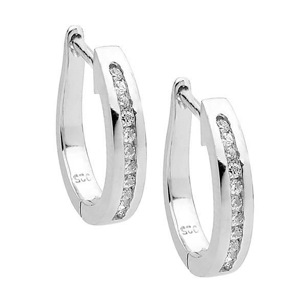 Ellani cubic zirconia hoop earrings