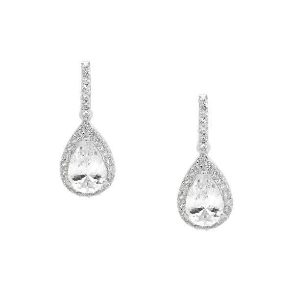 Ellani cubic zirconia drop earrings