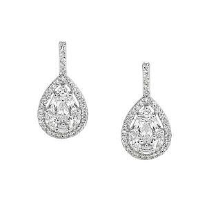 Ellani cubic zirconia drop earrings