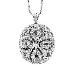 Ellani cubic zirconia locket