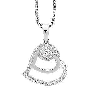 Ellani cubic zirconia heart pendant