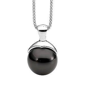 Ellani black shell pearl pendant