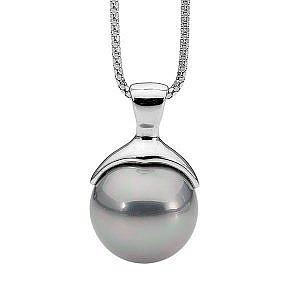 Ellani grey shell pearl pendant