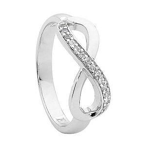 Ellani cubic zirconia infinity ring