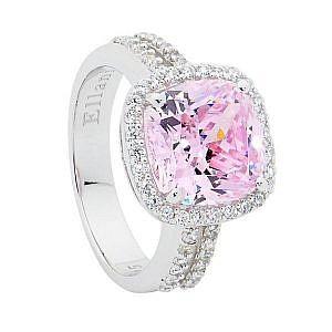 Ellani pink & white cubic zirconia ring