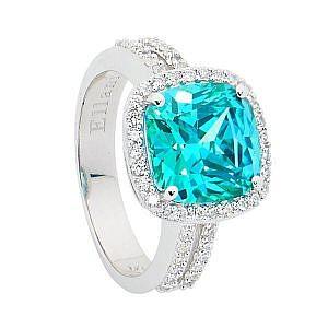 Ellani mint & white cubic zirconia ring