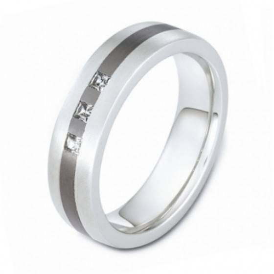 Men's diamond set wedding ring