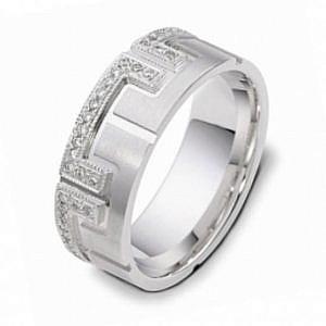 Men's diamond set wedding ring