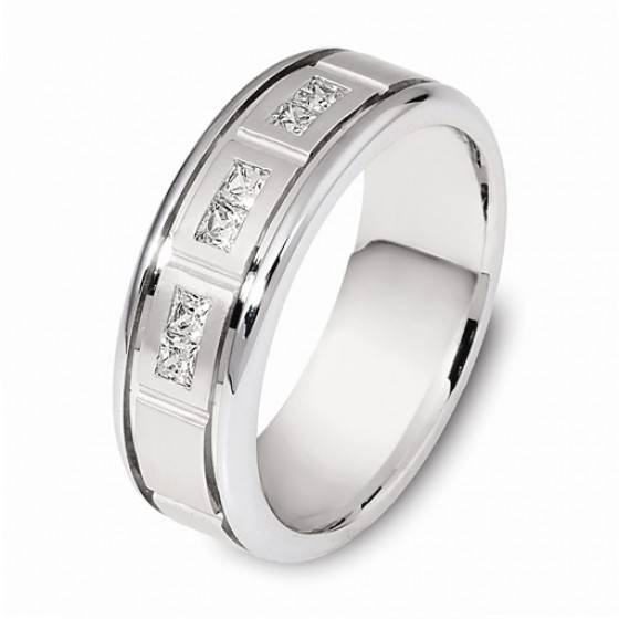 Men's diamond setwedding ring