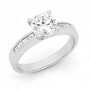 Brilliant & baguette cut diamond ring