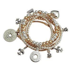Von Treskow lia two tone bracelet