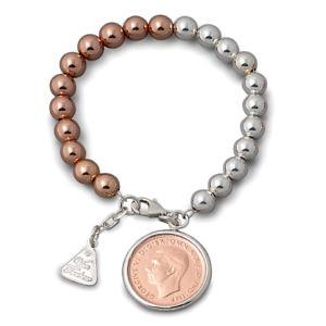 Von Treskow ball bracelet with half penny