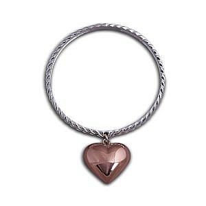 Von Treskow twisted bangle with puffy heart