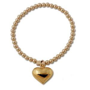 Von Treskow puffy heart stretchy bracelet