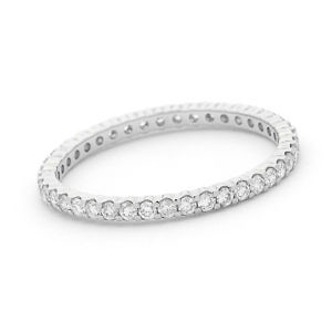 Brilliant cut diamond full circle wedding ring
