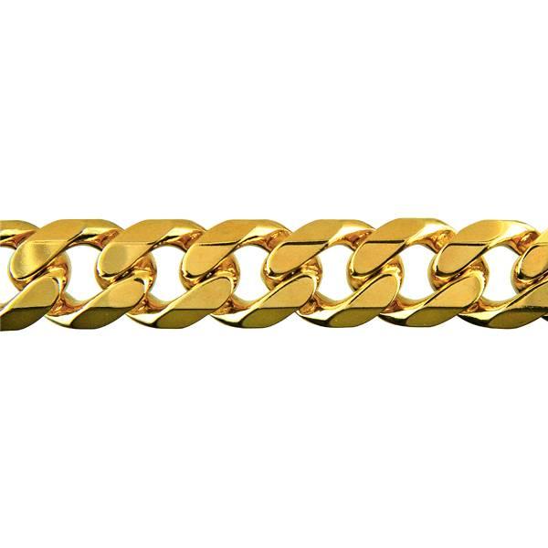 Diamond cut bevelled curb chain