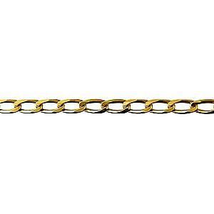 Diamond cut bevelled long link curb chain