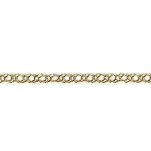 Diamond cut oval double curb chain