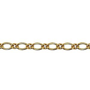 Oval 1 on 1 figaro chain