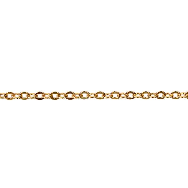 Hammered trace chain