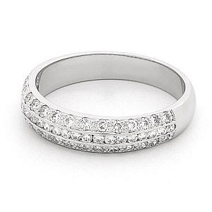 Brilliant cut diamond pave & channel set ring