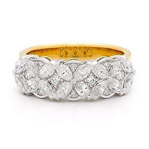 Marquise & brilliant cut diamond ring