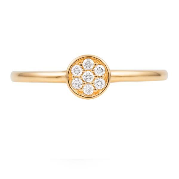 Round diamond proposal ring