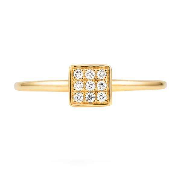 Square diamond proposal ring