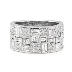 Brilliant, baguette & princess cut diamond ring
