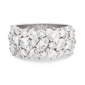 Pear, marquise brilliant & princess cut diamond ring