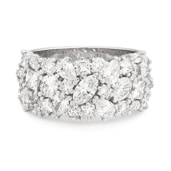 Pear, marquise brilliant & princess cut diamond ring