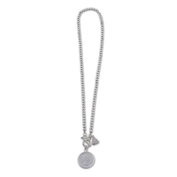 Von Treskow ball necklace with sixpence