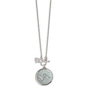 Von Treskow ball chain necklace with penny token coin