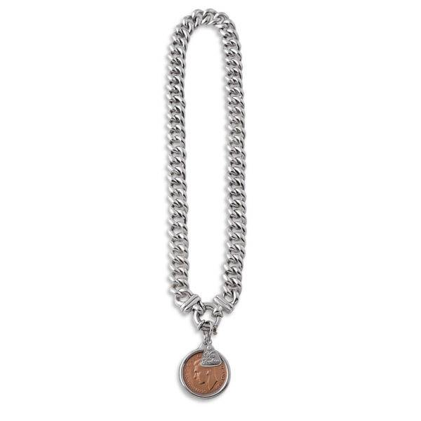 Von Treskow small mama necklace with half penny