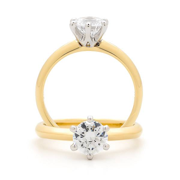 Solitaitre brilliant diamond ring