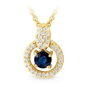 Sapphire & diamond pendant