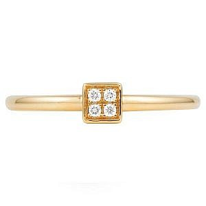 Square four diamond proposal ring